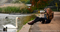 Photographing waterfowl in Hyde Park, London